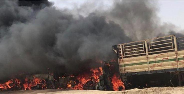 الجاسم: إحالة واقعة حريق موقع حجز البلدية إلى التحقيق
