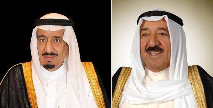 سمو أمير البلاد يجري اتصالا مع خادم الحرمين مهنئا بعيد الفطر السعيد