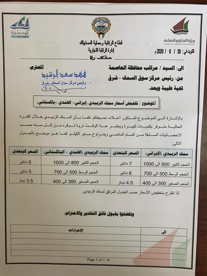 «الرقابة التجارية» تُحدد أسعار الزبيدي المستورد بما لا يزيد على 7 دنانير للكيلو