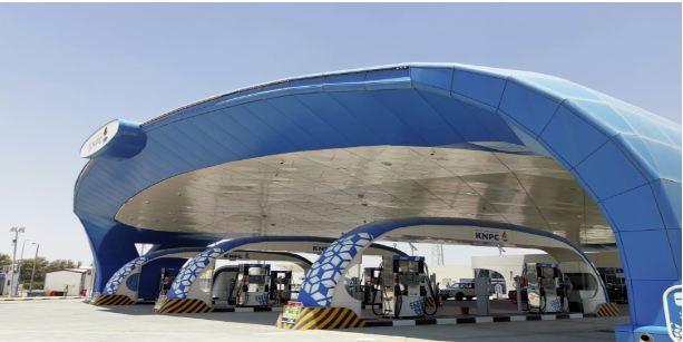 (البترول الوطنية) الكويتية تفتتح محطة وقود جديدة في مزارع العبدلي