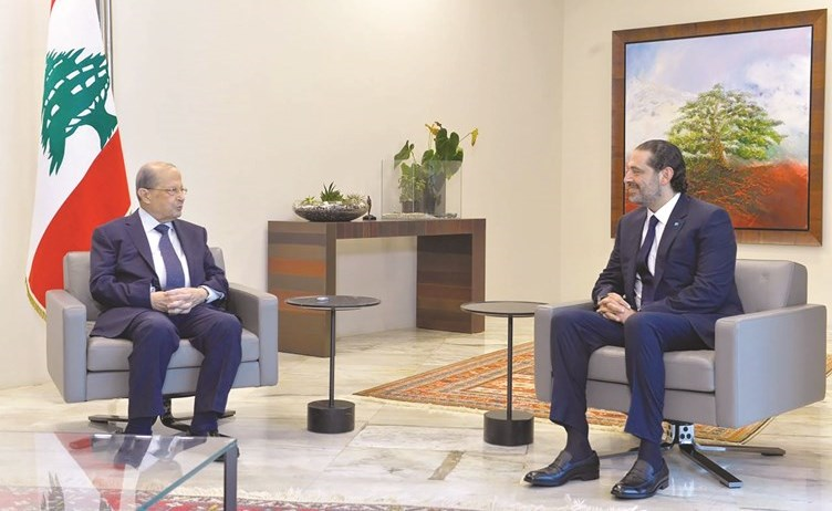 الحريري من بعبدا: جلسة طويلة مع الرئيس والأجواء إيجابية