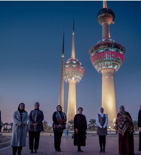 إضاءة أبراج الكويت بنقوش «السدو» حتى نهاية يناير