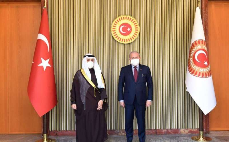 وزير الخارجية ناقش ورئيس البرلمان التركي تعزيز أطر تعزيز التعاون المشترك بين البلدين