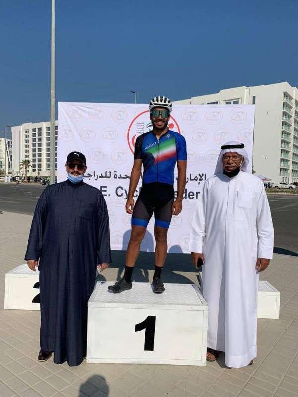 الكويتي خالد الخليفة يحققالمركز الأول في سباقالإماراتللدراجات الهوائية