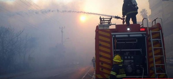 وسائل إعلام صهيونية: حريق كبير بجوار مطار بن غوريون وإخلاء منازل
