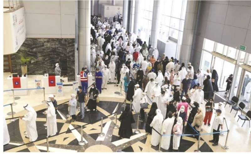 إجراءات تنظيمية مميزة في مركز جسر جابر للتطعيم رغم عدم استقرار الطقس