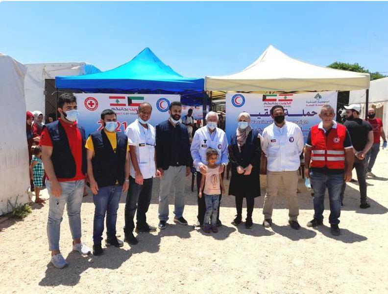 الهلال الأحمر الكويتي يدشن حملة لتطعيم اللاجئين السوريين في لبنان ضد كورونا